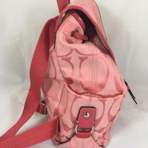 Coach Bags - COACH Kyra Signature C Daisy Backpack Purse Pink